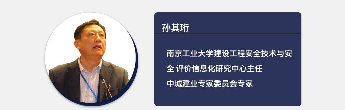 孙其珩 南京工业大学建设工程安全技术与安全评价信息化研究中心主任 中城建业专家委员会专家  施工安全管理,工程建设安全,互联网+信息化建筑施工安全,装配式建筑施工质量安全
