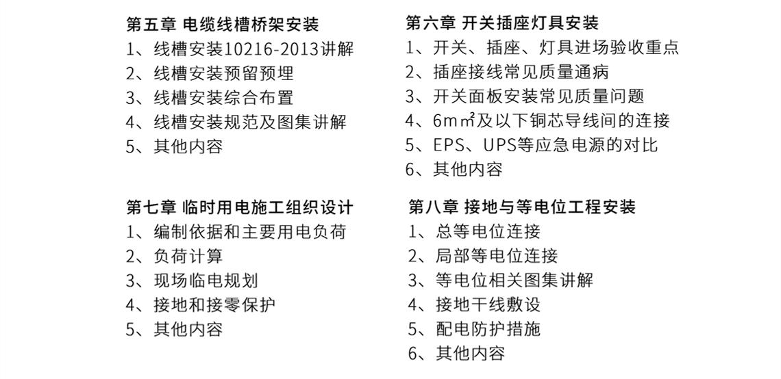 安装施工课表