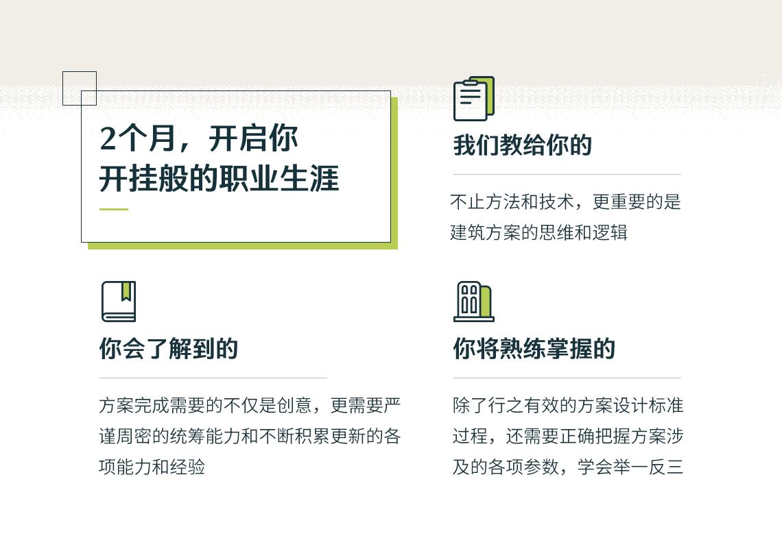 四周独立学习解决建筑方案设计过程中遇到的建筑经济技术指标、建筑总平面布局、建筑方案设计方法等问题