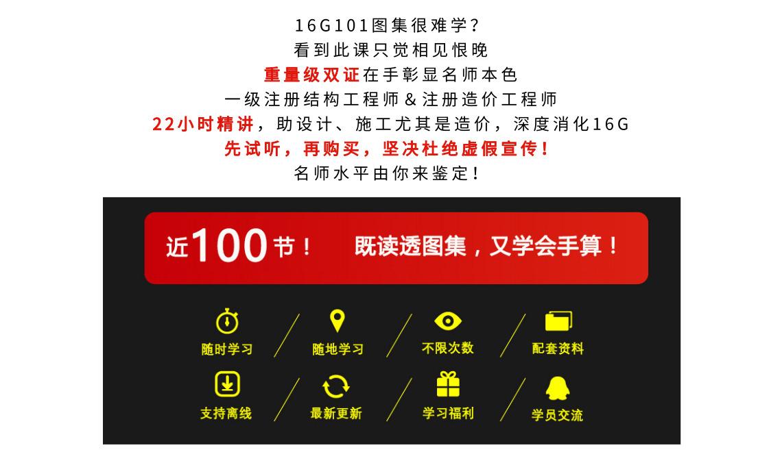 16G101图集包含柱子,梁,墙,板,基础,楼梯的讲解,钢筋手算全面讲解,学习可以快速学会钢筋