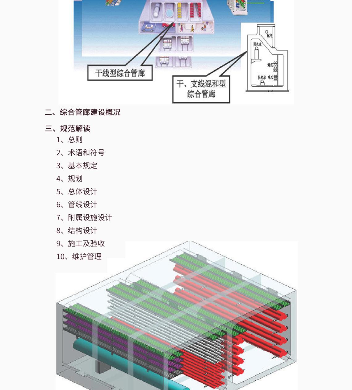 城市综合管廊工程技术规范,地下综合管廊系统,综合管廊项目划分,综合管沟国家规范  一、综合管廊简介   1、综合管廊政策导向  2、综合管廊的类型  3、综合管廊建设的必要性  4、综合管廊的优缺点