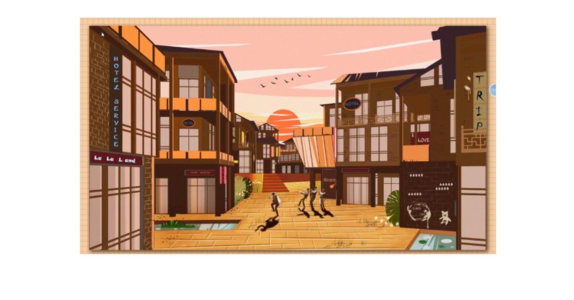 课程案例:课程优秀案例赏析2  seo关键字:建筑表现,效果图,插画风,建筑设计表达,小清新淡彩风格,插画填色风格