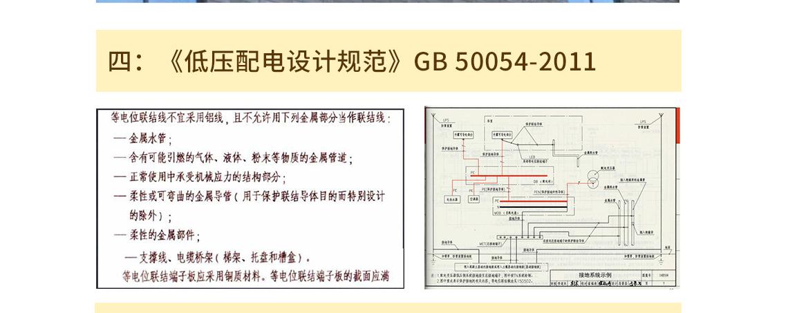四:《低压配电设计规范》GB 50054-2011 seo关键字:接地工程安装,接地总等电位,安装局部等电位,安装接地干线,接地安装及验收