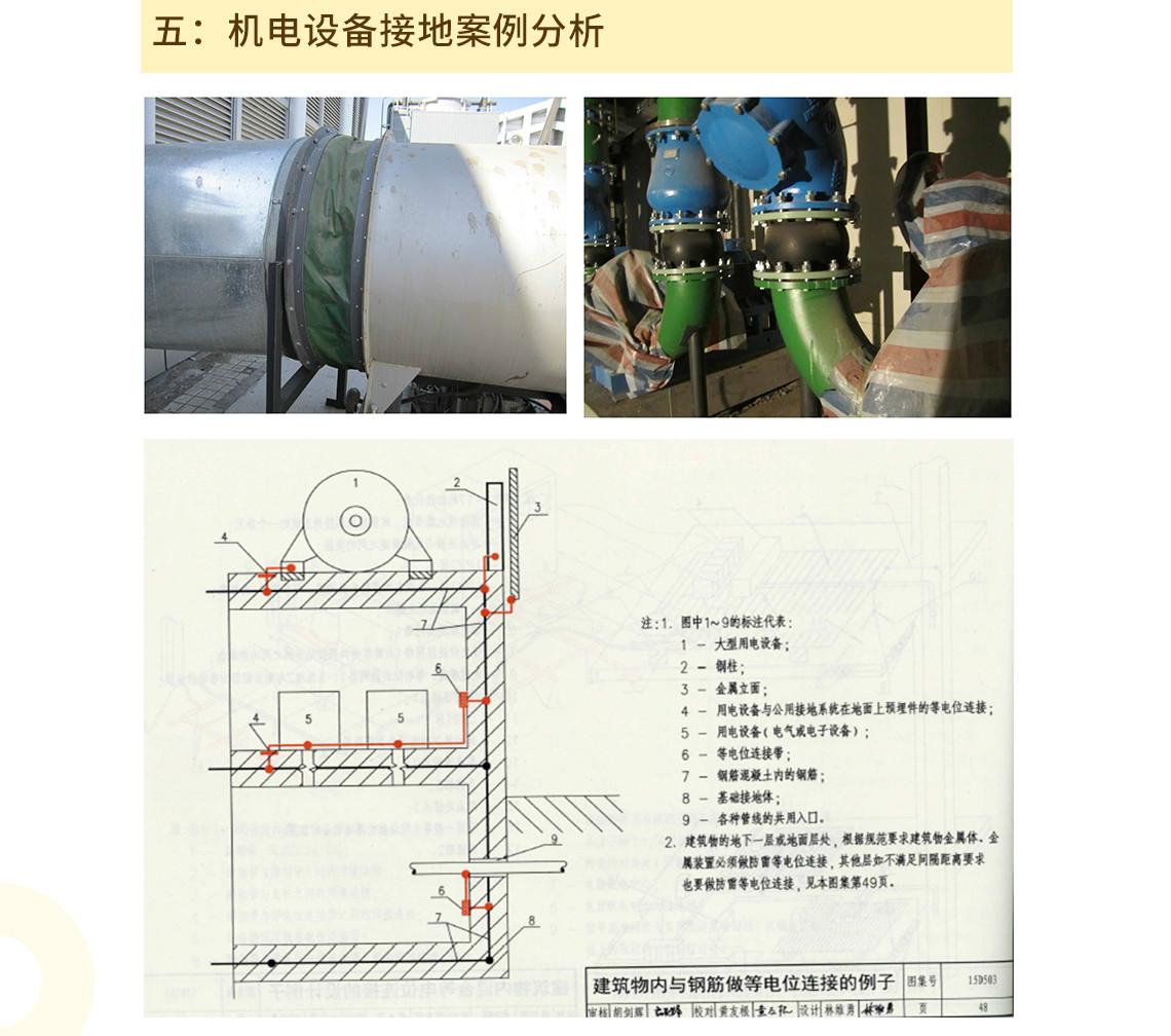 五:机电设备接地案例分析 seo关键字:接地工程安装,接地总等电位,安装局部等电位,安装接地干线,接地安装及验收