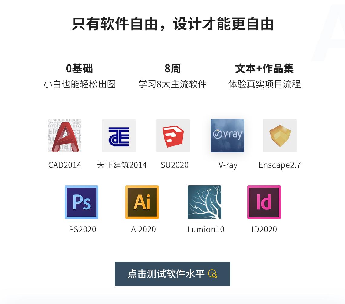 景观设计软件培训,常用设计软件培训,景观设计教程,景观效果图软件教程,专业软件就像设计师的武器,制图所需设计软件,如cad、ps、su、vr、lu、ai等,需要熟练运用