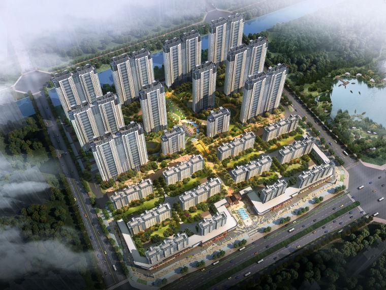 [江西]南昌知名地产金域国际居住区项目建筑模型(JHD建筑)-W 1