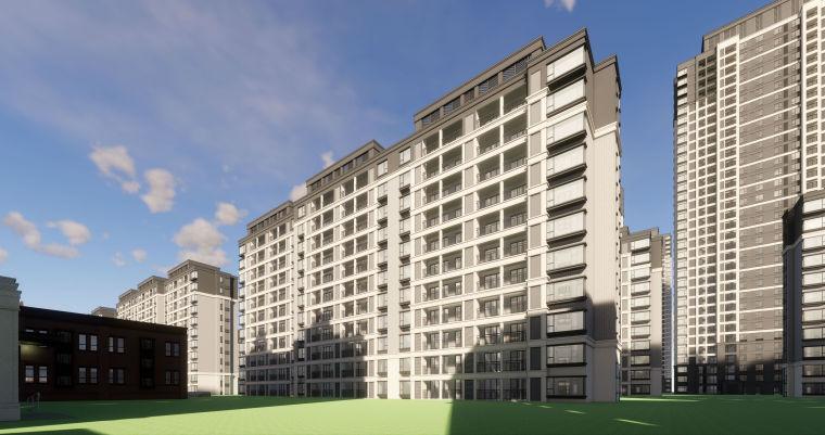 [江西]南昌知名地产金域国际居住区项目建筑模型(JHD建筑)-W 17
