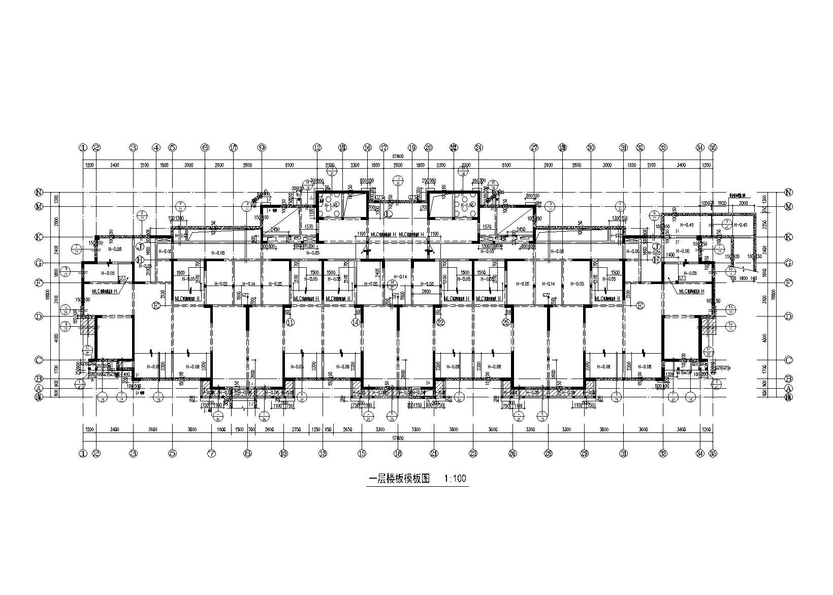 24层剪力墙住宅楼全套施工图(建筑结构水暖电,预应力管桩)