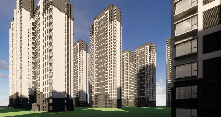 [江西]南昌知名地产金域国际居住区项目建筑模型(JHD建筑)-W 18