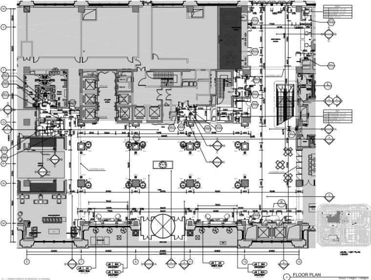 [湖北]武汉泛海费尔蒙酒店室内装修施工图丨效果图