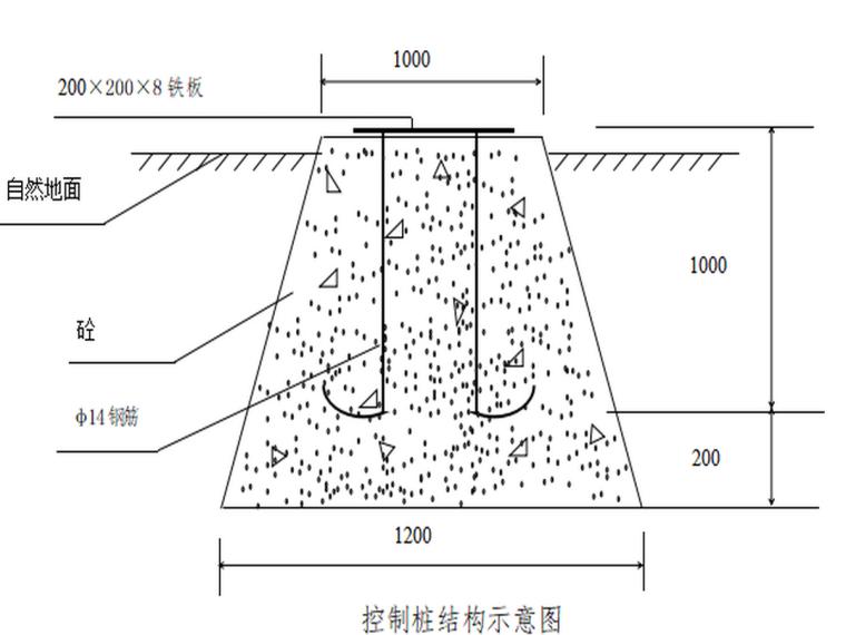 控制桩结构示意图