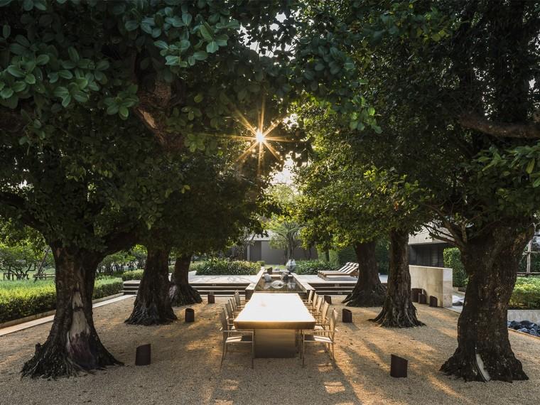 曼谷J住宅私人庭院景观