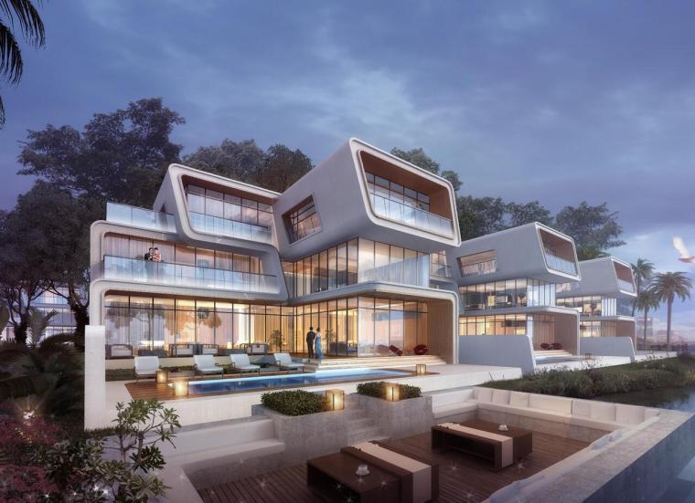 实地中山翠景现代风格别墅建筑模型设计(2018年)