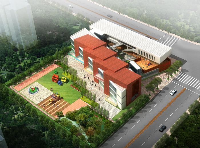 三林四所幼儿园建筑模型设计(15班+效果图)