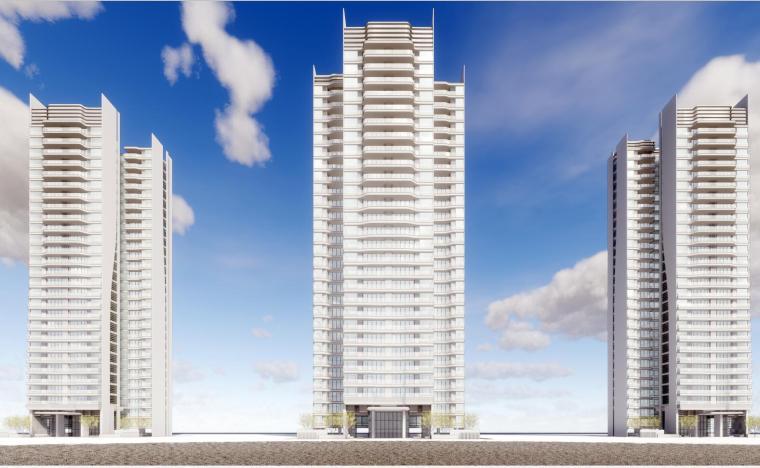 现代风格高层豪宅建筑模型设计(2018年)
