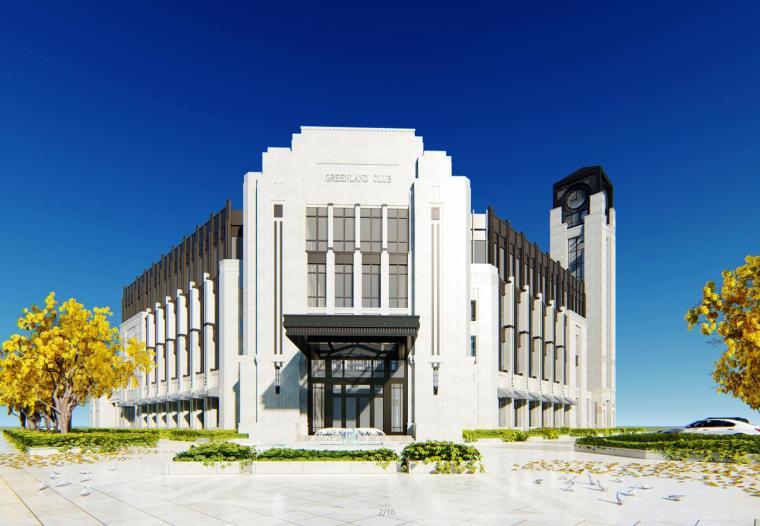 [山东]绿地济南新古典会所建筑模型设计(2018年)