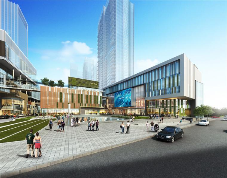 [广东]深圳华润万象天地商业综合体建筑模型设计(2018年)