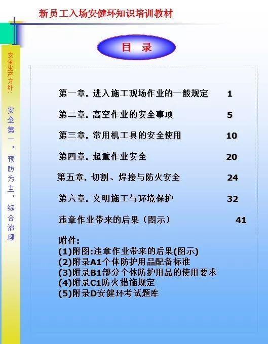 26套建筑施工安全教育培训讲义PPT合集_4