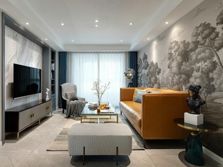 现代轻奢美式风格的居住空间