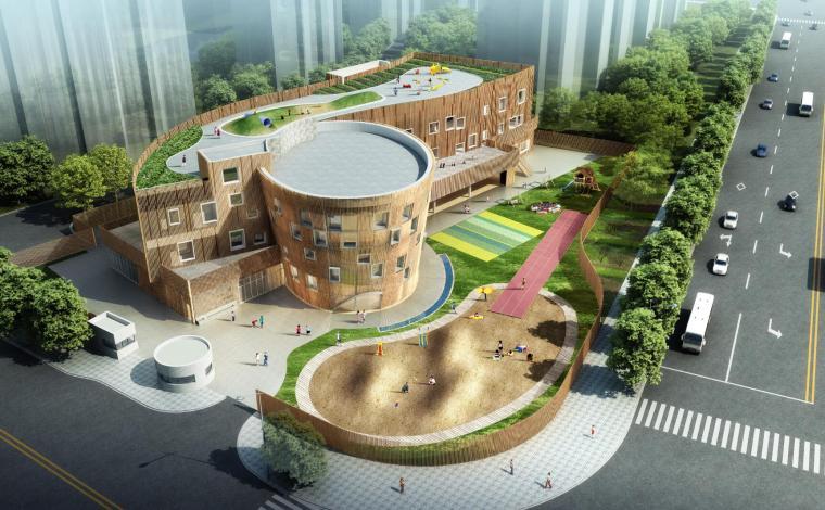 [上海]紫竹领仕幼儿园建筑模型设计(2018年)