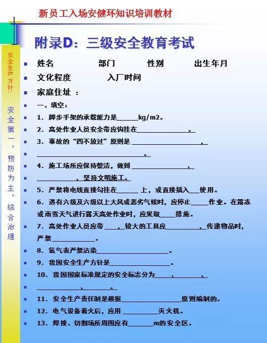 26套建筑施工安全教育培训讲义PPT合集_55