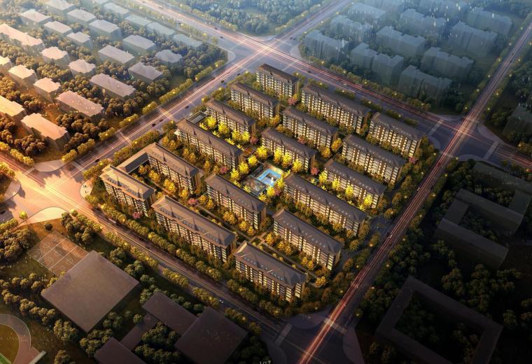 [河南]郑州金茂府地王豪宅建筑模型设计(现代中式洋房)