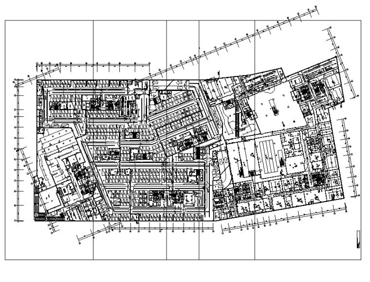 上海高层商业办公楼电气施工图
