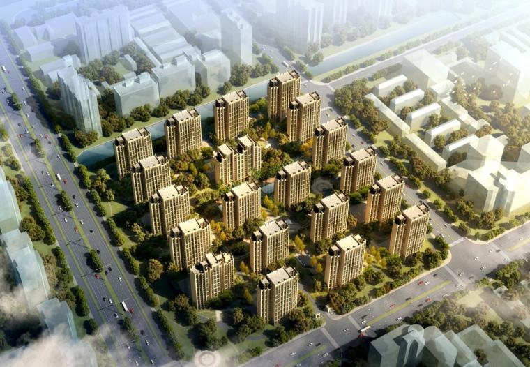 [上海]周浦镇西社区居住区建筑方案文本设计(PDF+85页)