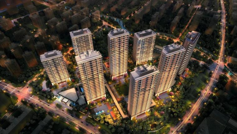 [上海]杨浦平凉阳光城·滨江悦现代高层豪宅建筑模型(2018年)