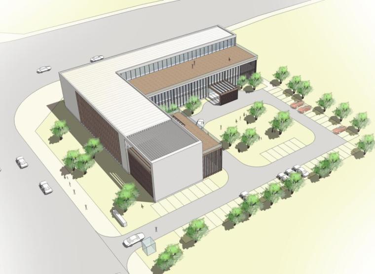 [湖南]长沙国际会展中心建设指挥部办公楼设计(PDF+18页)