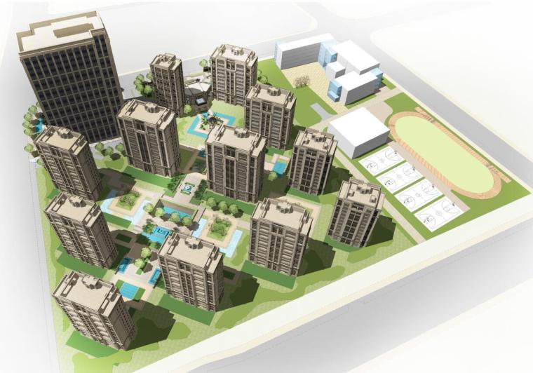 [上海]保利徐汇滨江建筑设计方案(欧陆风格)