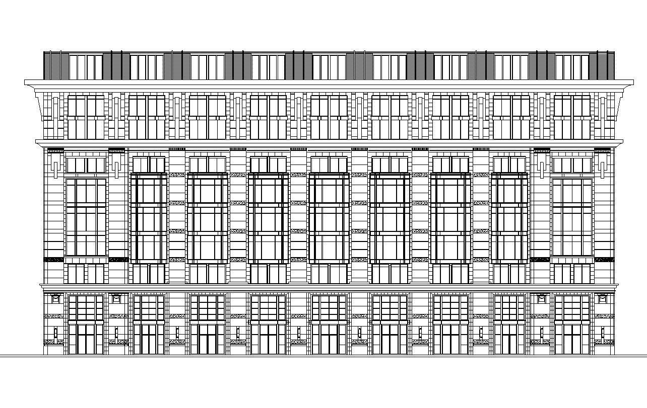 [北京]金融街E9项目政府公建办公楼建筑施工图设计(CAD)
