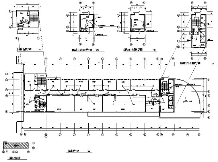 哈尔滨中学综合楼电气消防施工图
