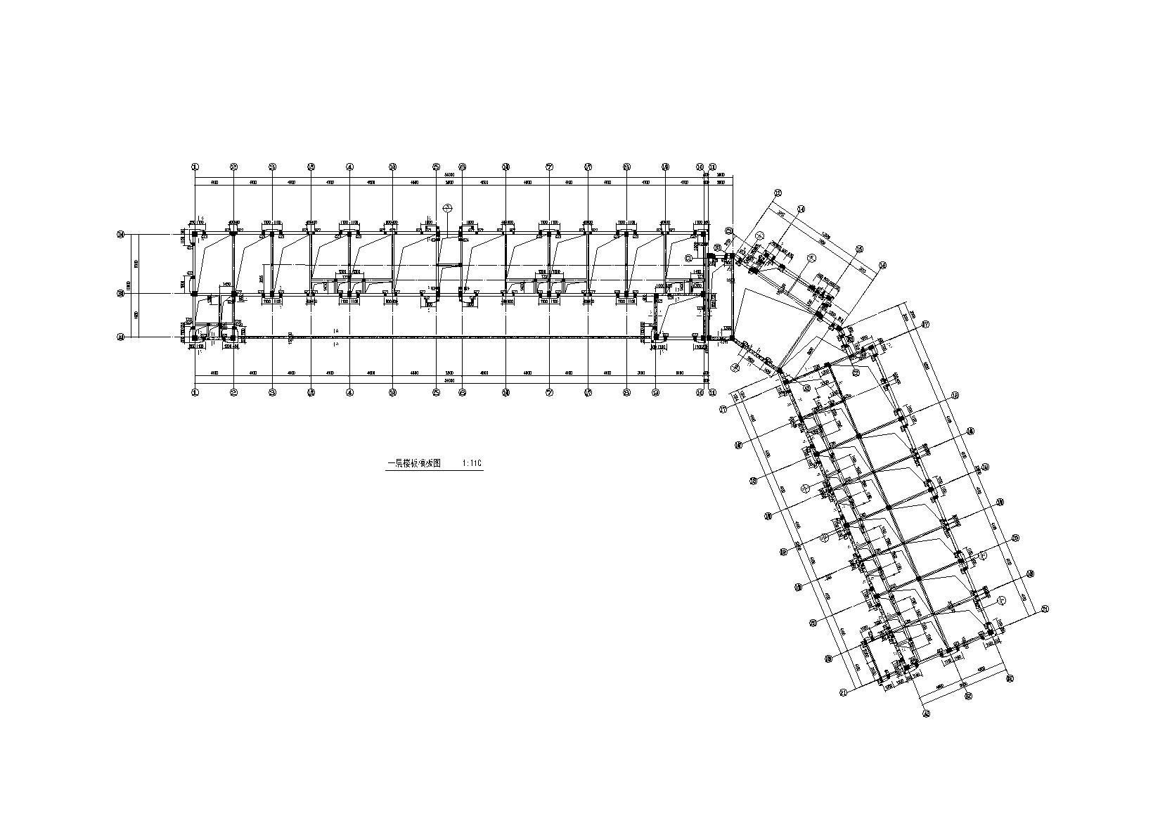 3层钢混框架结构商业楼全套施工图(建筑结构水暖电)