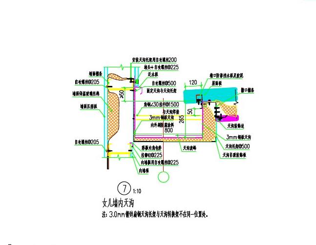 钢结构墙身详图及节点图(PDF)