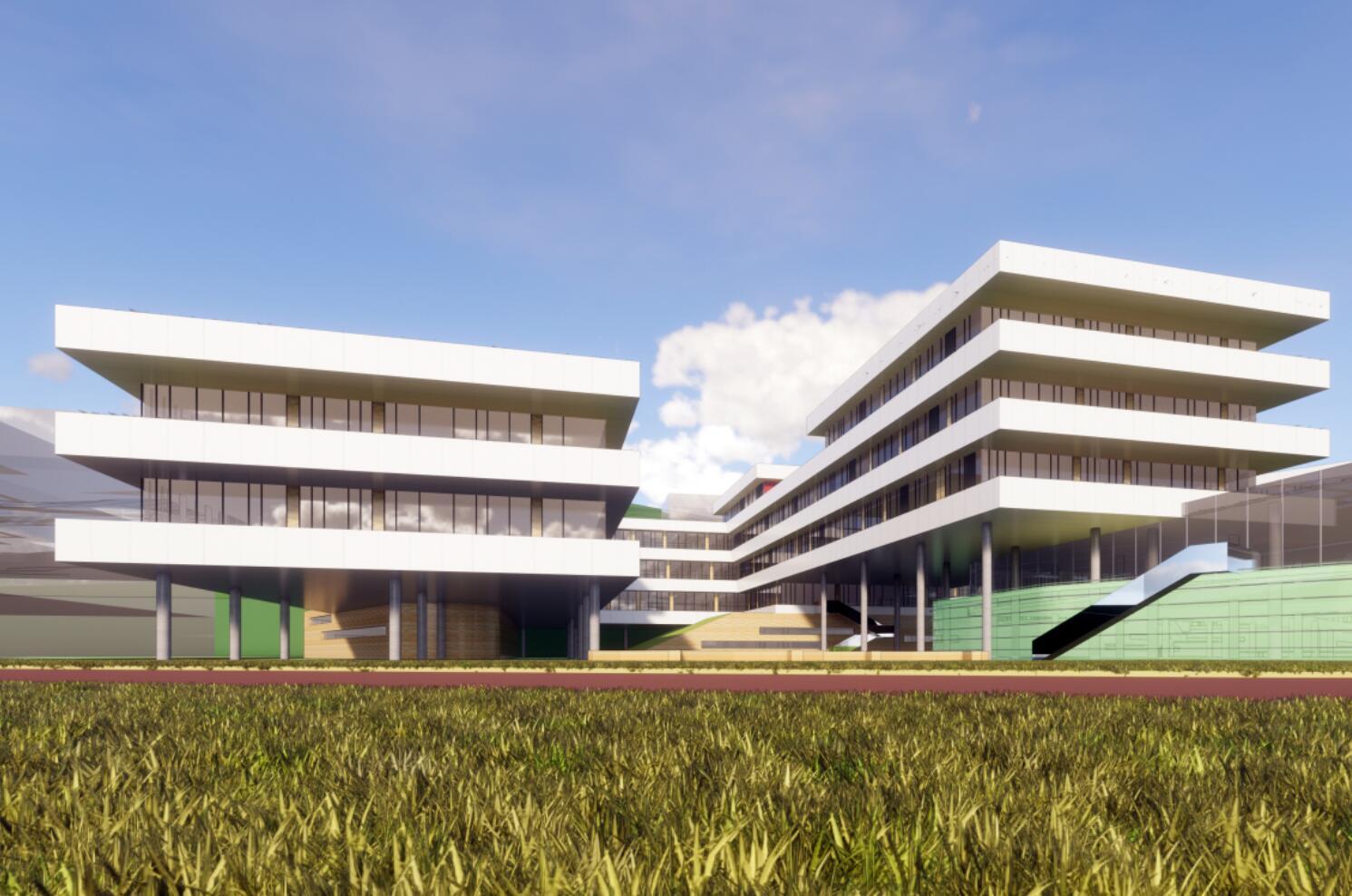 [贵州]遵义医学院新校区建筑模型设计(2018年)