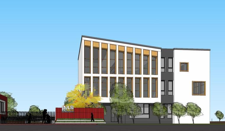 保利幼儿园建筑模型设计(现代风格)