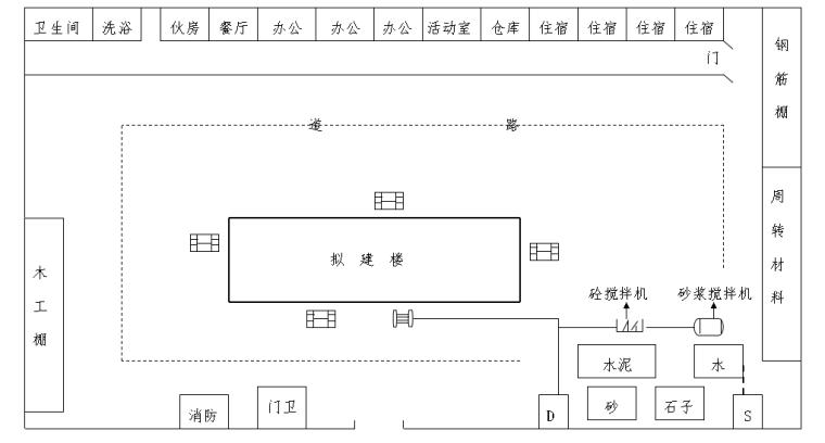 房间框架完整施工组织设计(含附图1-6)