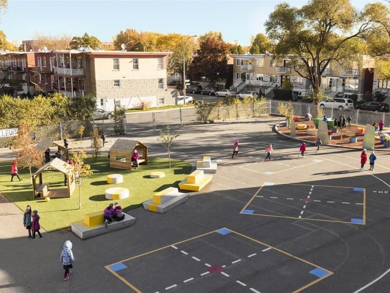 加拿大ÉcoleSainte-Anne小学校园改造