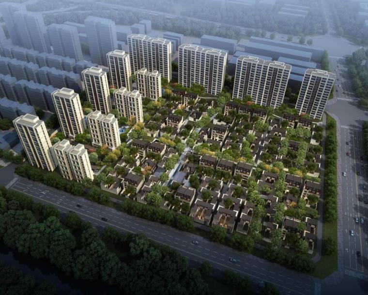 [江苏]新中式风格居住区建筑方案文本(PPT+73页)