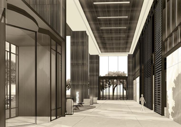 [湖南]HBA-长沙康莱德Conrad酒店设计方案+彩平彩立+效果图