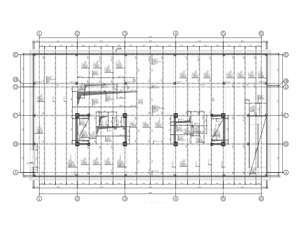 [上海]西亚宾馆钢框架支撑悬挂结构改建施工图(2013)