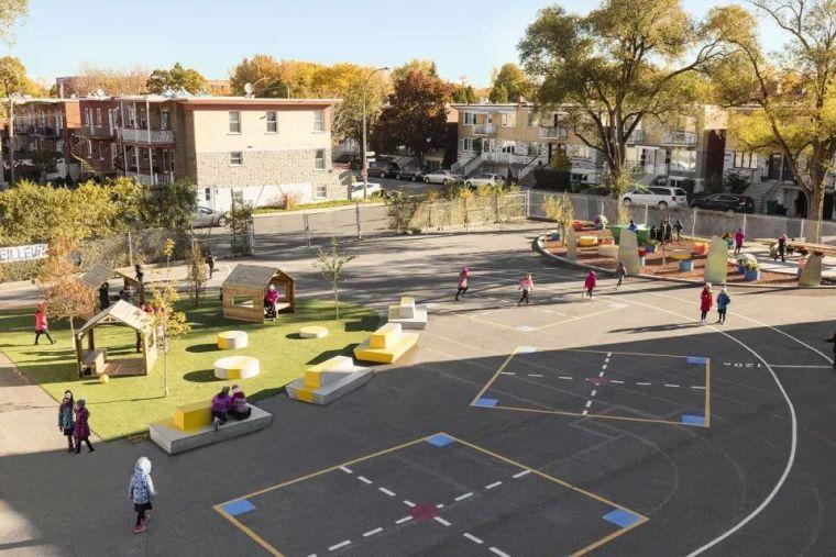 ÉcoleSainte-Anne小学校园改造!激发学生潜能的多功能户外空间