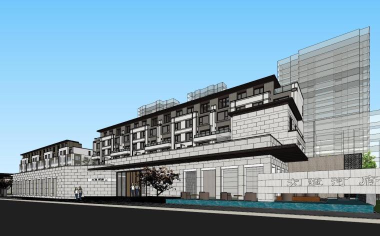 [浙江]杭州金地大运河府新中式示范区建筑模型设计