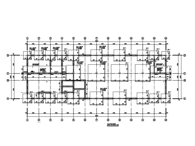 4层钢混框架结构综合楼结构施工图(独立基础+柱下条形基础)