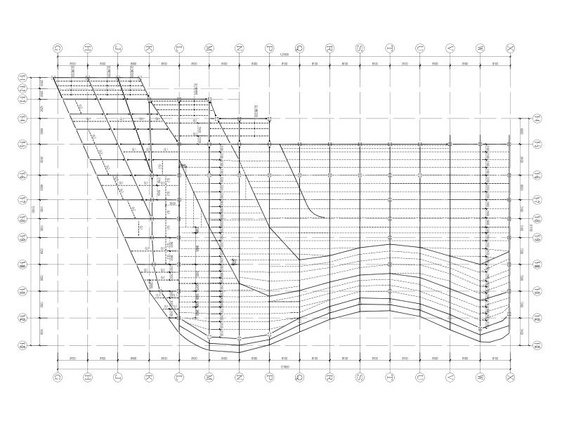 绿色亿客隆彩票平台|游泳馆大空间钢桁架结构全套亿客隆彩票首页图(含人防地下室及附属亿客隆彩票平台)