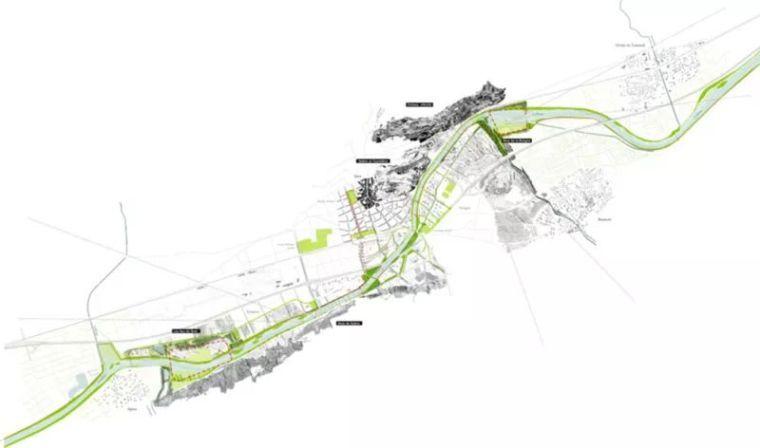 重返城市的遗忘河流丨罗纳河谷景观规划设计