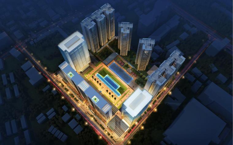 缅甸仰光商业综合体建筑模型设计 (联创)