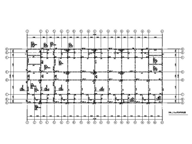 [重庆]6层钢混框架结构倒班楼结构施工图