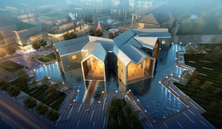 [江西]绿地南昌玫瑰城人才公寓售楼处建筑模型设计(UA国际)